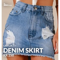 Blå denim skirt Tårnåsen, 1413