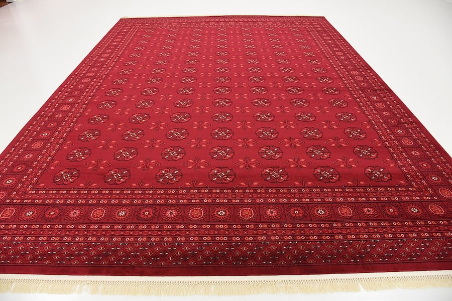 new Bokhara Afghan design rug Large size 9x13 red carpet Persian style cc06370c-c32b-416b-bf20-03ecfc4a996c