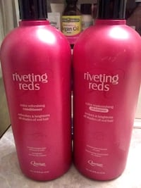 two pink Riveting Reds shampoo and conditioner bottles Johnson County, 66061