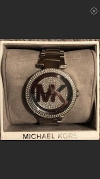 round silver Michael Kors analog watch with link bracelet Chula Vista, 91914