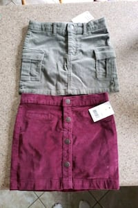 girls skirts size 6/8.$5 each or both $8
