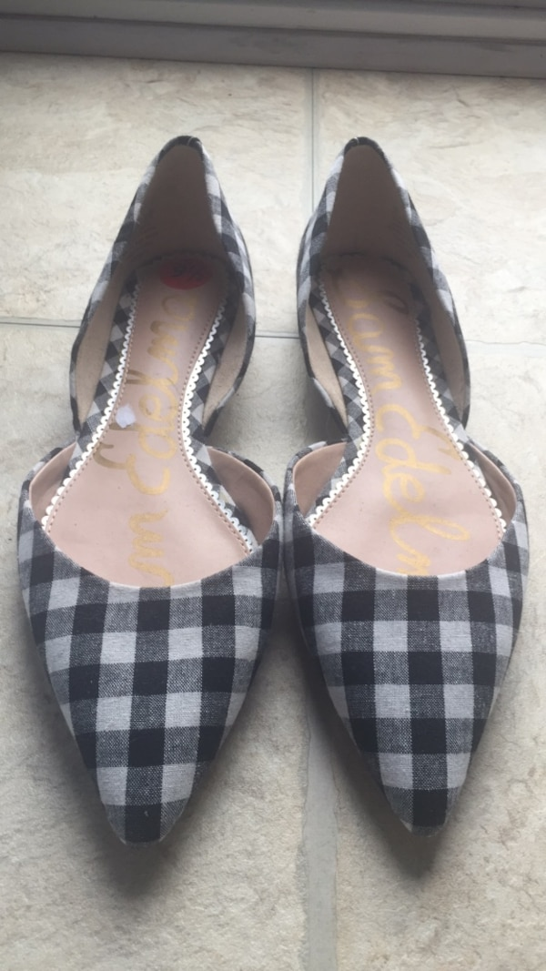 Checkered Flat Dress Shoes