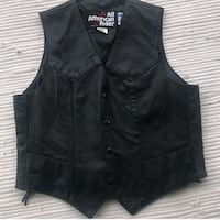 Ladies Leather Biker Vest