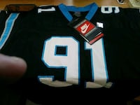 black and blue NFL jersey New York, 10036