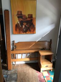 Maple Full bed frame and Nightstand.    Strongsville, 44136