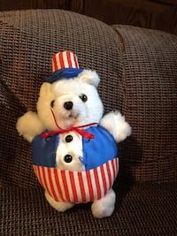 white and blue bear plush toy Washington, 20024