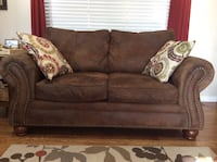 Brown microfiber couch and love seat Orem, 84057