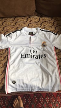 Blanche Fly Emirates Real Madrid jersey shirt
