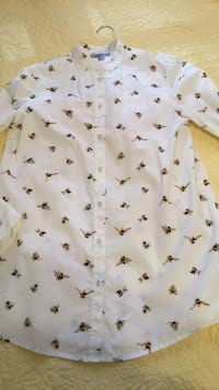 Bumblebee button-up long sleeved shirt. size: xs  New Caney, 77357