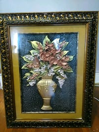 brown wooden framed painting of flowers Queens, 11420