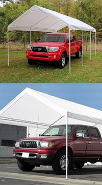 New $130 Heavy Duty 10x20 ft Carport Canopy Outdoor Storage Shelter 8 Steel Leg, Waterproof Cover South El Monte