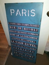 Paris Wire Hanging Sign