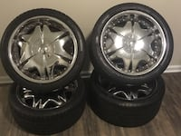 "19"" Giavanna rims w/pirelli p-zero low pro tires Olney, 20832"