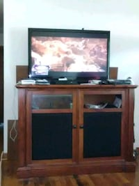 brown wooden TV stand with flat screen television Salem, 24153