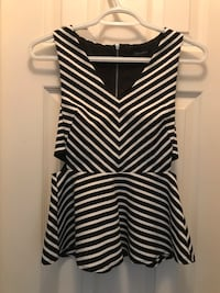 Classy black and White Cut Out top Mississauga, L5B 2L9