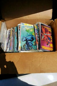 Box of old comic books most brand new in wrapping Amboy, 61310