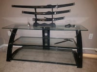 Steel & Glass Suspended Tv Stand (Z•line) Red Deer, T4P 2G4