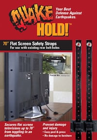 "70"" flat screen safety straps"