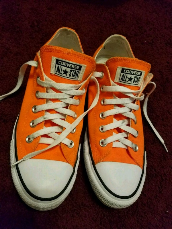 Orange Converse (Womens 9, Mens 7)