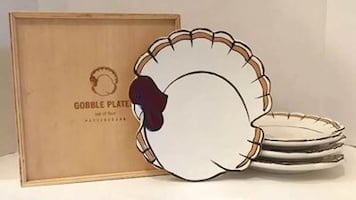 Potterybarn Gobble Plates - 2 sets of 4 new in box