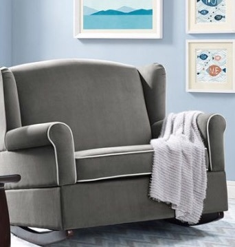 Nursery Chair, Oversized Armchair, Arm Chair, Rocker, Baby Rocking