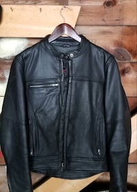 Motorcycle leather jacket-Womens