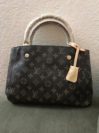 monogrammed black and gray Louis Vuitton leather tote bag Las Vegas, 89119
