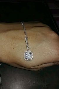 Asscher Cut CZ Necklace Toronto, M8Z 2A2