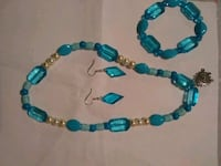 earrings, bracelet and necklace jewelry set