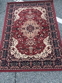 red, white, and black floral area rug Gaithersburg, 20879