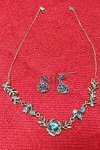 Necklace and earrings .
