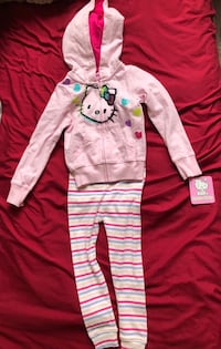 Brand new !! Hello kitty sweater (3T) & gap tights (3 yr toddler) with 2 extra long sleeve shirts. Only $15 for all !! Cambridge, N1R 1L6