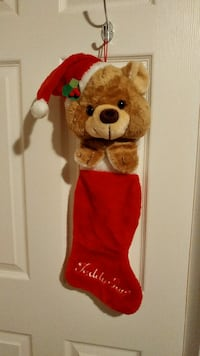 Vintage 80's Teddy Bear Stocking Vaughan