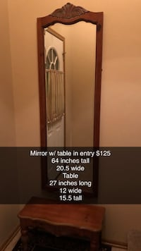 Entry way mirror & table Urbandale, 50322