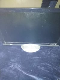 black flat screen television
