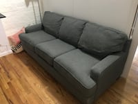 gray fabric 3-seat sofa New York, 10010