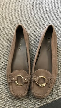 Pair of beige Suede flats by Ralph Lauren size 6 Calgary, T3H