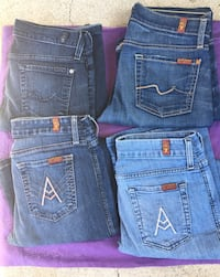 For All 7 Mankind Jeans $20 each Oxnard, 93033