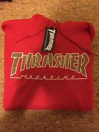 thrasher hoodie red and gold ONE OFF SUPER RARE  BRAND NEW!!! North Vancouver, V7L 1C4
