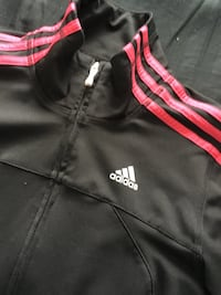 Black with pink stripes adidas sweater
