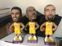 Los Angeles Lakers Bobbleheads 3 Pack LOT Walnut, 91789