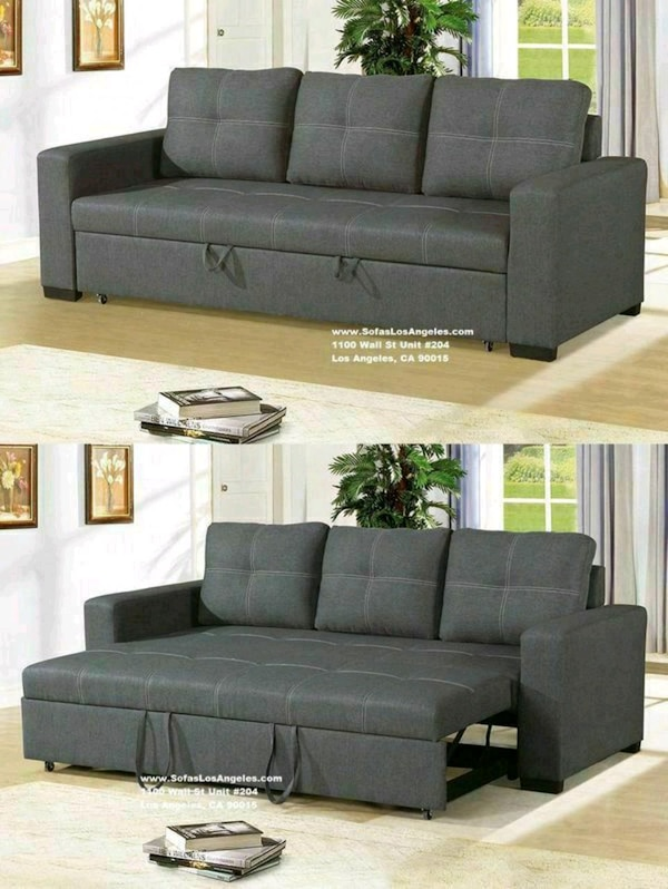 Outstanding Blue Grey Pull Out Couch Sofa Bed Machost Co Dining Chair Design Ideas Machostcouk