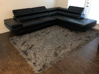 L-Shaped Leather Sofa