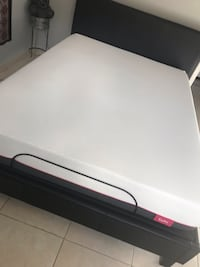 white and black bed mattress Hialeah, 33018