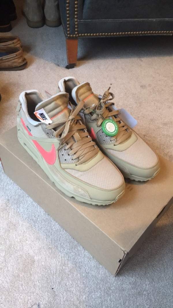 34881ad9e28 Off White x Nike Air Max 90 Desert Ore Size 11.5 StockX Verified