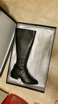 Leather boots. Real leather.
