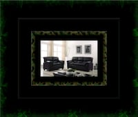 Black bonded sofa and loveseat Washington, 20018