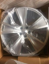 NEW SM TACH silver machined clear coat- 2 wheels
