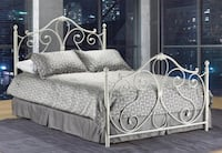 BRAND NEW BEAUTIFUL METAL HEADBOARD, FOOTBOARD & FRAME - FREE DELIVERY IN GTA