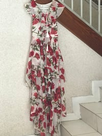women's white and red floral sleeveless dress Miami, 33183